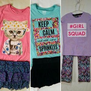 Girls as 10 lot justice t-shirts skorts pants